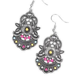 Blooming Bora Bora - Multi colored Earrings